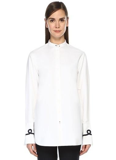 Joseph Hakim Yaka Uzun Kollu Gömlek Beyaz